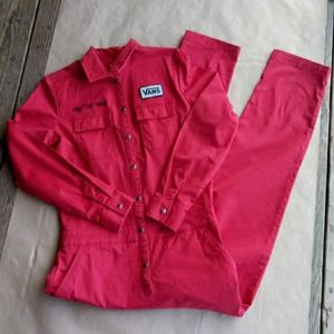 Vans Oil Change Red Coverall Boiler Jumpsuit XS